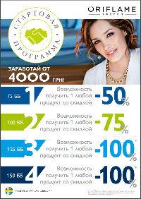 Стартовая Программа Орифлейм 2016 для Украины